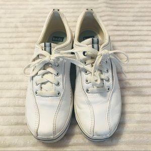 KEDS White Leather Tennis Shoes Sneakers Size 7.5
